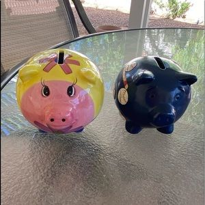 Other - Adorable Piggy 🐷 Banks Set of 2